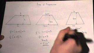 Area Of A Trapezium How To Calculate The Area Easily Maths Revision V