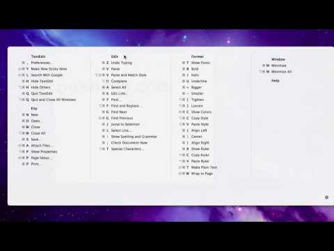 View All Keyboard Shortcuts for Any Application in Mac OS X