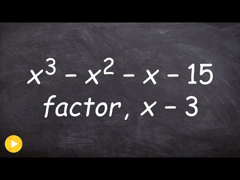 Pre-Calculus - How to determine if a factor is a factor of a polynomial using factor theorem