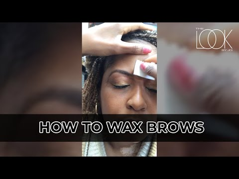 Demo of how the apply and remove wax on eyebrows