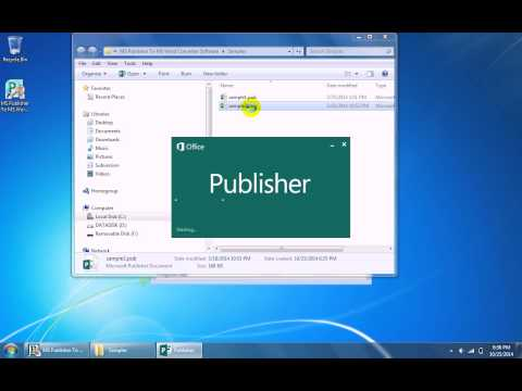 How To Use MS Publisher To MS Word Converter Software