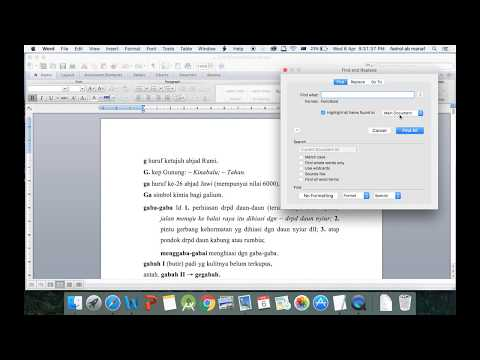 select only bold text in Microsoft-word 2011 (Mac OSX )