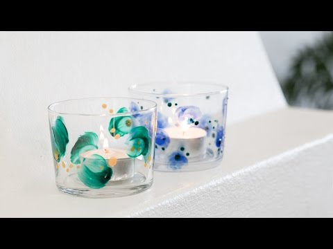 DIY : Decorative glass painting by Søstrene Grene