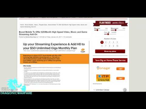 How to Unlock Boost Mobile Full HD Video Streaming Data Speeds (HD)