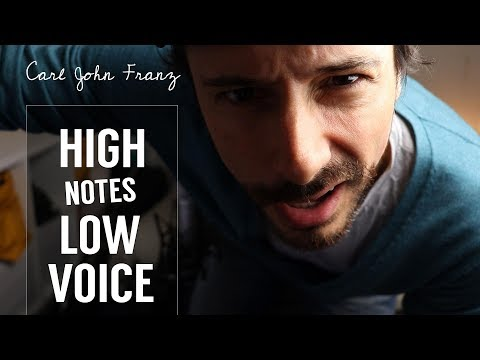 How to sing HIGH NOTES with low voice..