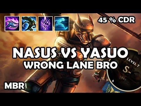 Riot-K9 Nasus Vs Yasuo | 45% CDR StormRaiders Surge | Season 7