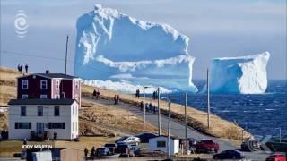 Mammoth iceberg dwarfs Canadian town