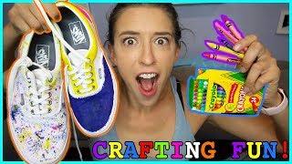 Making Crayon Shoes!