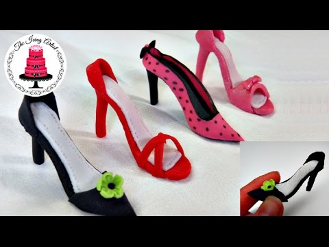 Mini Fondant High Heel Shoe - How To With The Icing Artist