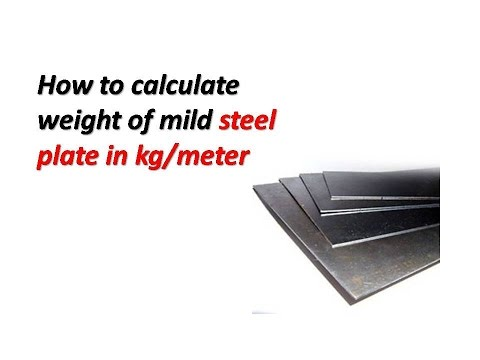 How to calculate weight of mild steel plate in kg/meter