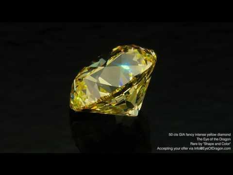 50.12 Carats Fancy Intense Yellow Diamond -
