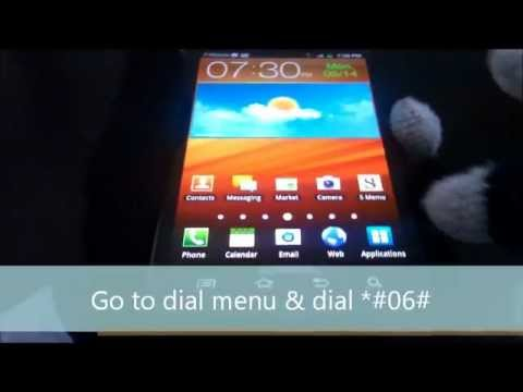 Check your phone IMEI tutorial - Samsung Galaxy Note