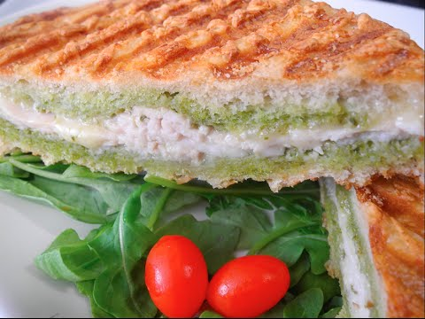 Pesto Turkey & Brie Panini Sandwich