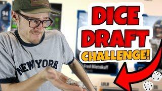 HILARIOUS DICE ROLLING DRAFT CHALLENGE!! Madden 18 MUT Draft