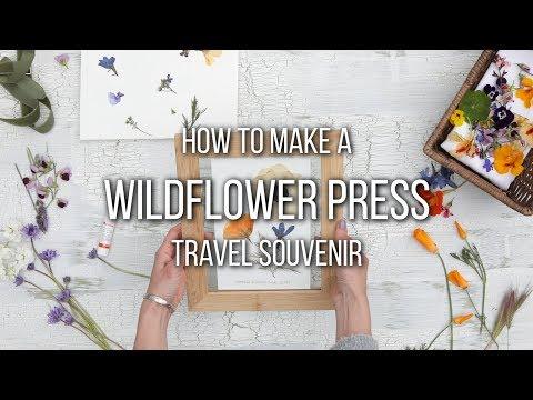 How to Make Pressed Wildflowers Video | Wildflower Press Tutorial