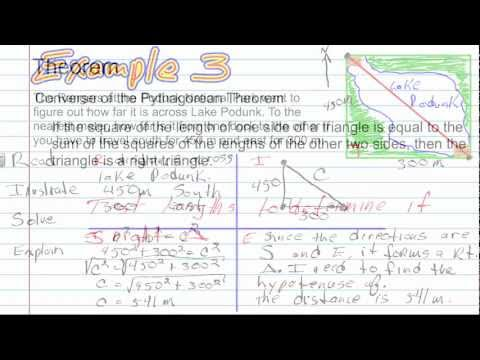 The Pythagorean Theorem and and Its Converse | Geometry How to Help