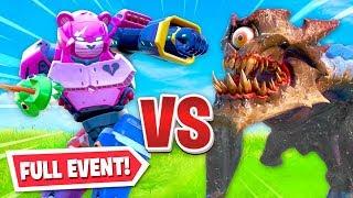 ROBOT vs MONSTER - FULL FIGHT event in Fortnite!