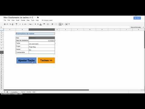 Gestionnaire de taches / Task Manager - Google Spreadsheet