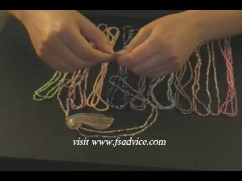 Easy Double Strand Seed Bead Necklace
