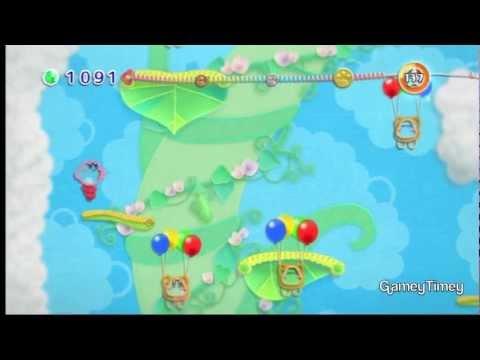 Kirby's Epic Yarn Big Bean Vine 100% Walkthrough