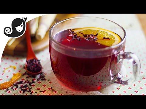Lemongrass Hibiscus Tea Recipe with Orange Peel | Vegan Recipe