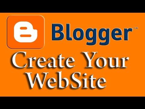 Free Website in Blogger : Blogger Web design Tutorial #1