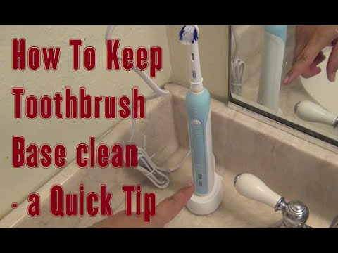 How To Keep Electric Toothbrush Base Clean - a LearnByBlogging Quick Tip