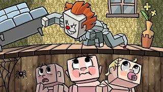 Minecraft | Baby Sitter - BABIES HIDE FROM IT THE CLOWN! (Pennywise is Here)