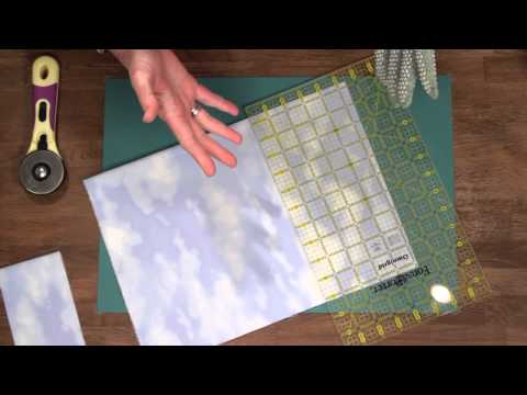 Quilty: how to cut fabric using a rotary cutter and mat with Marianne Fons