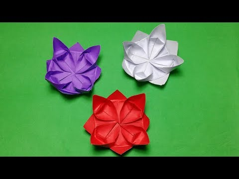 Origami Flowers#How to make paper flowers step by step?Simple Origami Lotus Flower.