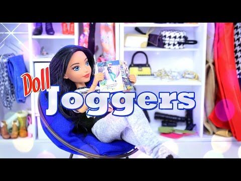 DIY - How to Make: Doll Joggers -Handmade - Clothes - Craft - 4K