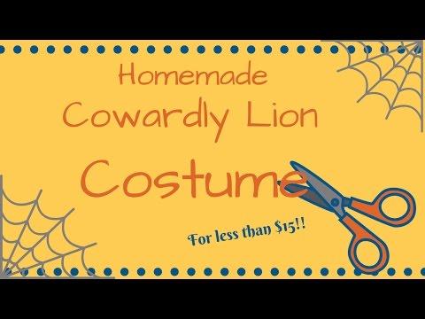 DIY Cowardly Lion Wizard of OZ Costume