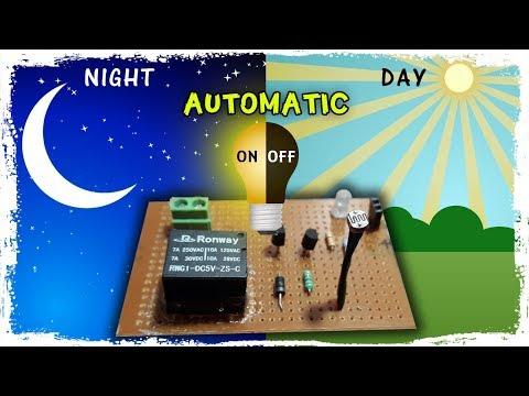 Automatic night light sensor | Dark Sensor | Day / Night ON / OFF sensor