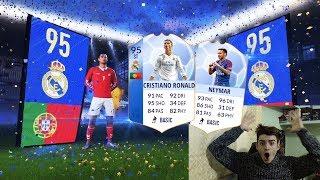95 CRISTIANO RONALDO BLU E NEYMAR BLU 93 IN A PACK !!! TOP 5 BEST PACK OPENING! FIFA 18 ITA #104