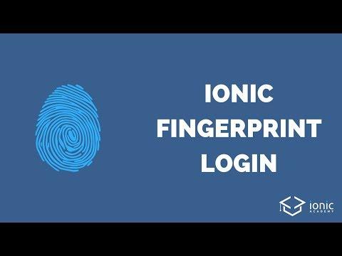Ionic Fingerprint Login