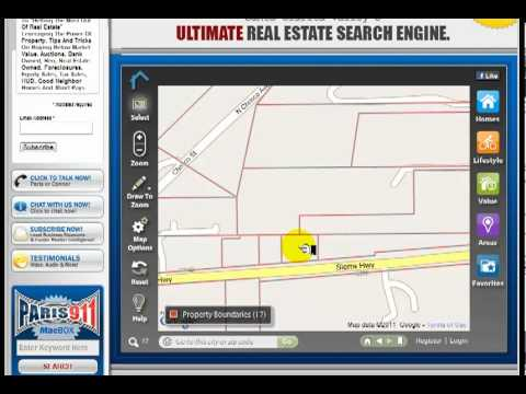 How do you find property boundaries and APN's?