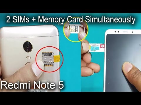 Xiaomi Redmi Note 5 - Dual sim & SD Card Simultaneously -How to use 2 Sims & SD Card in Redmi Note 5