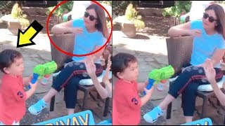 Taimur Ali Khan Blowing BUBBLE At Mommy Kareena Kapoor- VIDEO