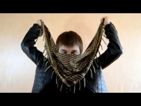 How to Tie a Shemagh (Arafat, Afghan Scarf)