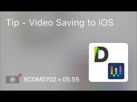 SCOM0702 - Tip - Video Saving to iOS