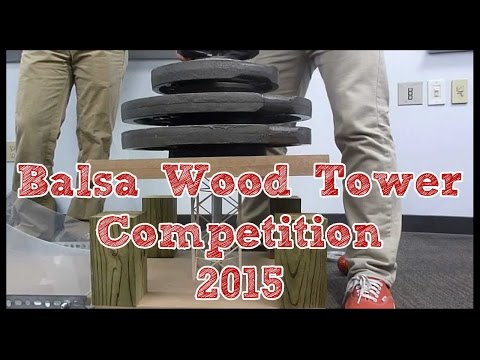 Balsa Wood Structure Weight-Bearing Competition