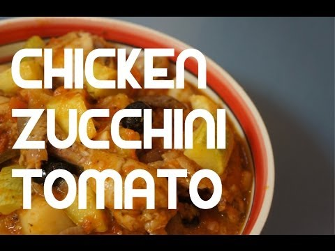 Italian Garlic Chicken & Zucchini recipe - Slow cooked Raju Courgette