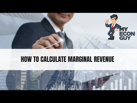 Marginal Revenue Calculated From Table