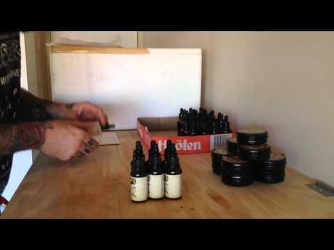 Beard Oil & Beard Balm labeling