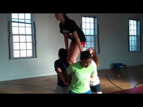 Awesome cheer stunt sequence!