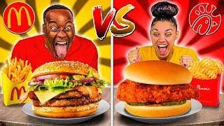 MCDONALDS VS CHICK-FIL-A FOOD CHALLENGE