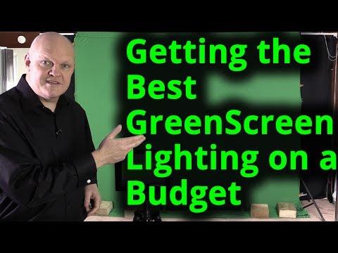 Getting the Best Green Screen Chroma key lighting setup on a budget