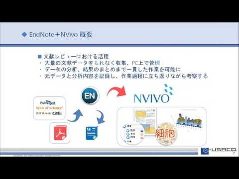 EndNoteとNVivoを使った研究支援と文献レビュー