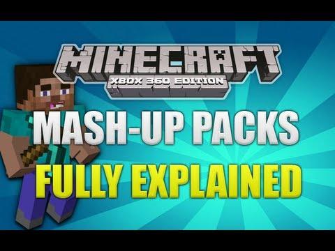 Minecraft Xbox 360 - TU12 New Mash Up Packs Fully Explained (TU12)