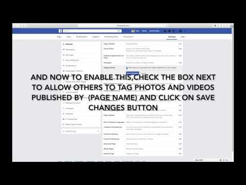 HOW TO ALLOW OTHER PEOPLE TO TAG YOUR PAGE'S PHOTOS AND VIDEOS